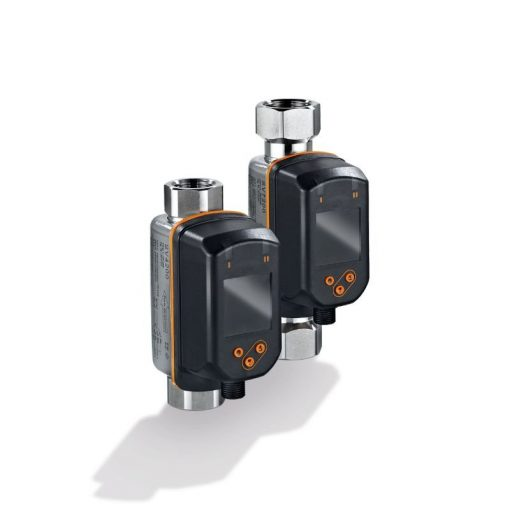 Vortex flow meters with display